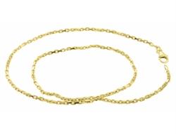 14 kt Rød hvidgulds Facet Anker Guld Halskæde, 80 cm og 6,0 mm