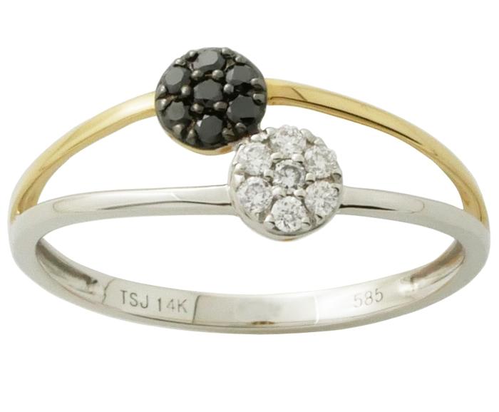 guldring med sort diamant