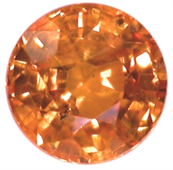 Orange safir fra Afrika