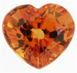 Orange safir hjerte