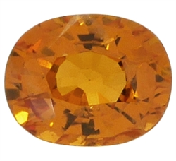 Oval orange safir