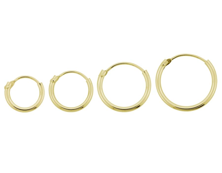 b6ac2b3bce2 Små creoler 8 kt guld - 9 - 17.5 mm. - Smykkebutikken