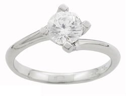 Solitaire ring med diamant